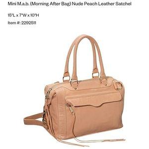 Rebecca Minkoff Mini (MAB) Morning After Peach Bag